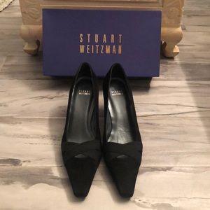 Stuart Weitzman Black Suede Shoes Size 9.5